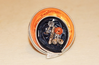 Nespresso Kapsel Ring mit Perlen