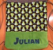 """Turnbeutel bestickt """"Julian"""""""
