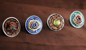 Modische Ringe aus Nespresso Kapseln